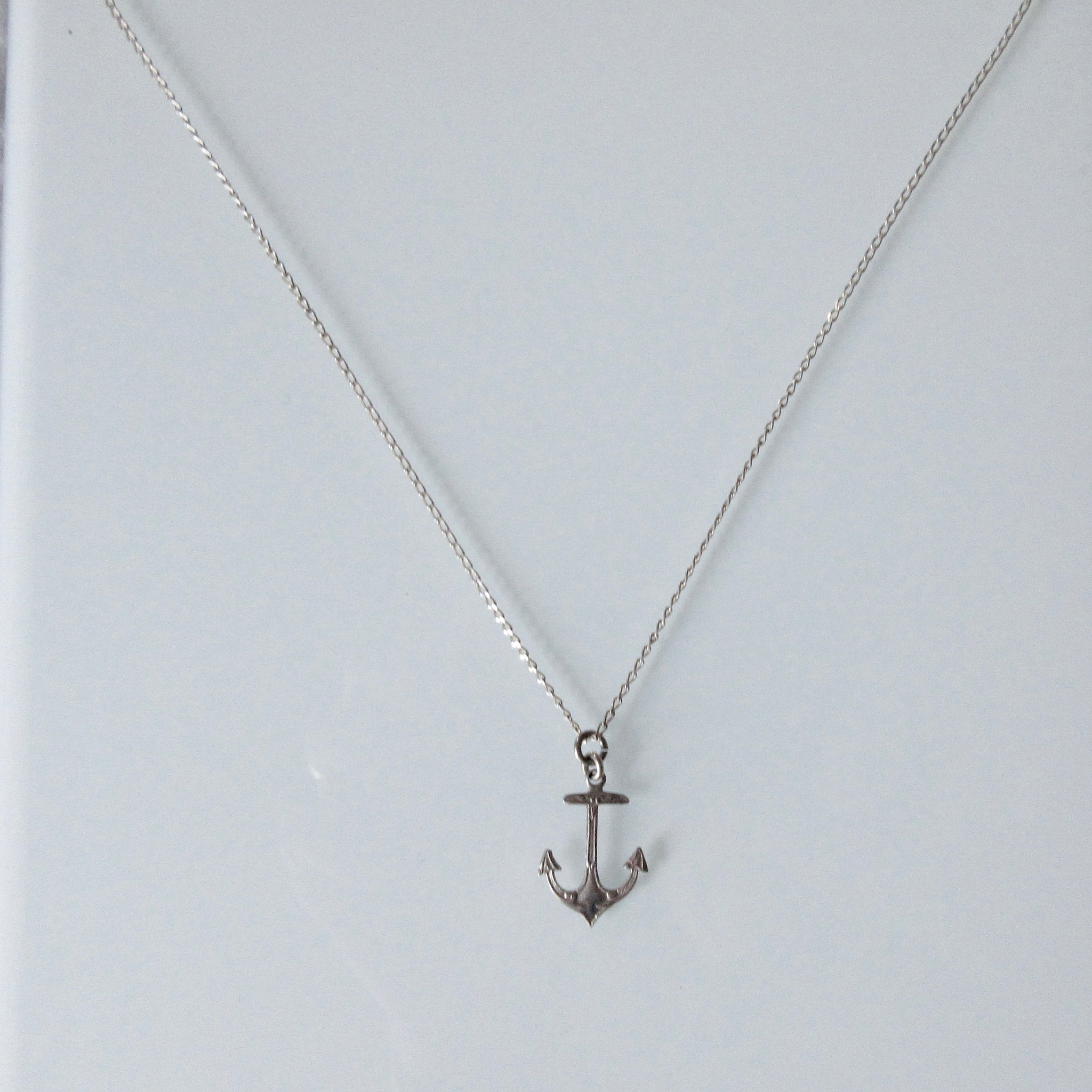 British Anchor Pendant Silver Necklace