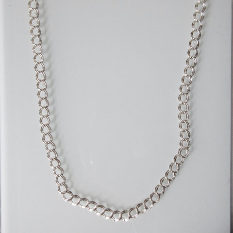 Sterling Silver Double Chain Necklace