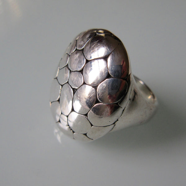 Hollow Sterling Silver Ring Organic Pattern