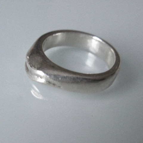 Organic Band Sterling Silver Ring