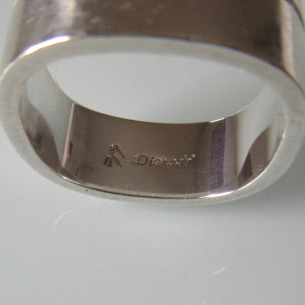 Modern Dieroff Soft Square Band Sterling Silver Ring
