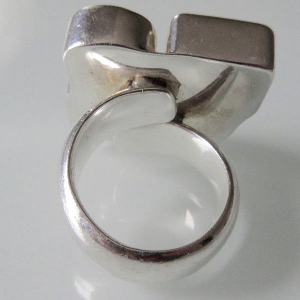 Modern Charles Albert Multi Gem Sterling Silver Ring