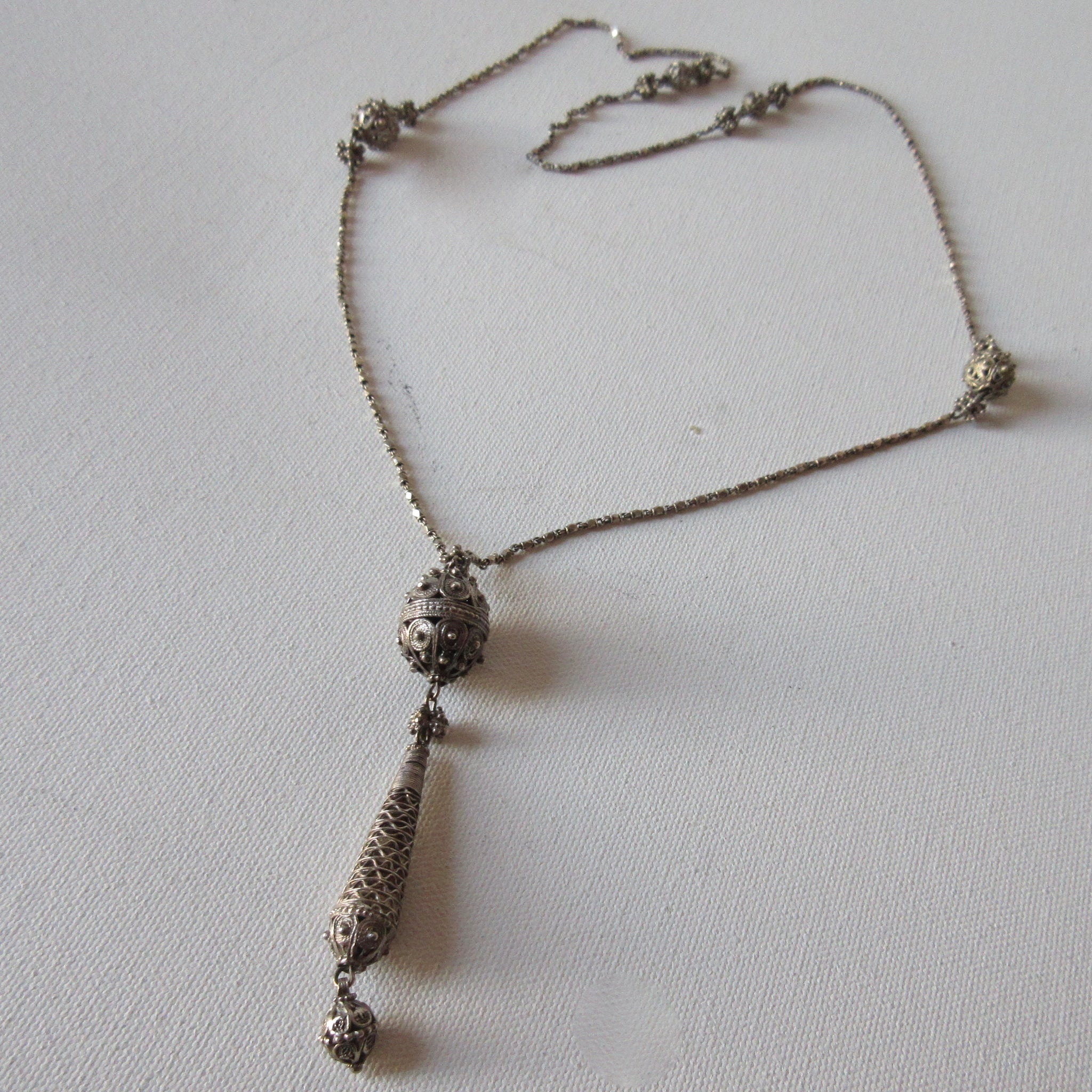 Ethnic Middle Eastern Silver Pendant