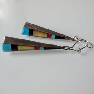 Zuni Multi Stone Earrings