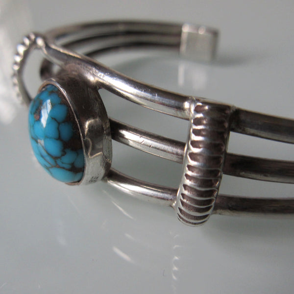 Vintage Navajo Silver Turquoise Cuff