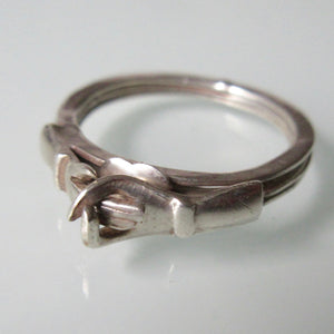 Friendship Silver Fede Gimmel Ring