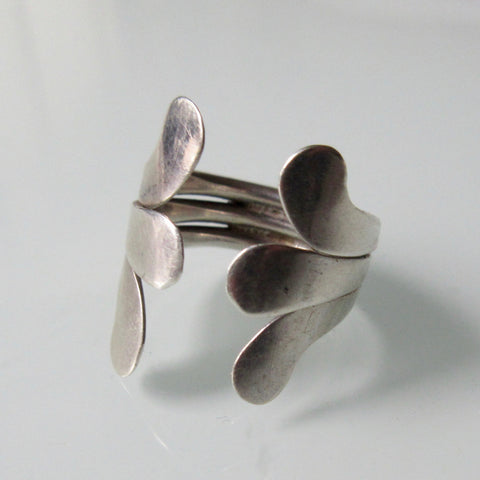 Finger Wrap Silver Ring