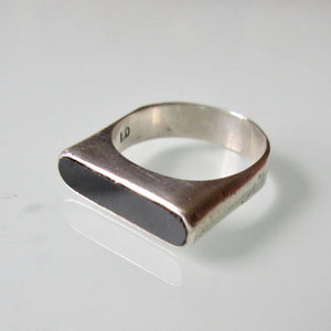 Modernist Silver With Inset Ring