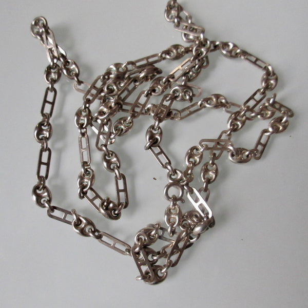 Marine Anchor Link Long Necklace Gucci Style