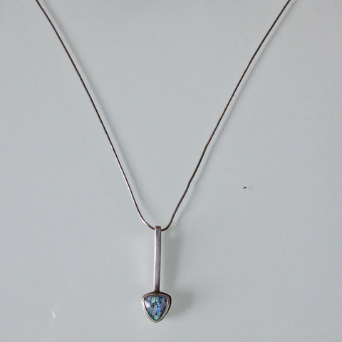 Modernist Triangle Pendant - Blue