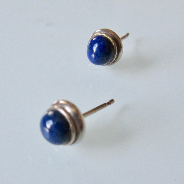 Lapis Silver Stud Earrings
