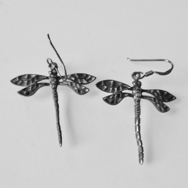 Dragon Fly Silver Dangle Earrings