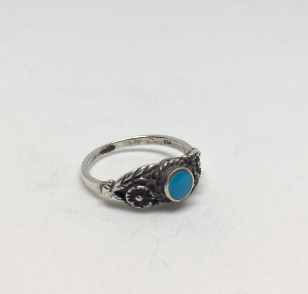 Vintage Silver Navajo Turquoise Ring