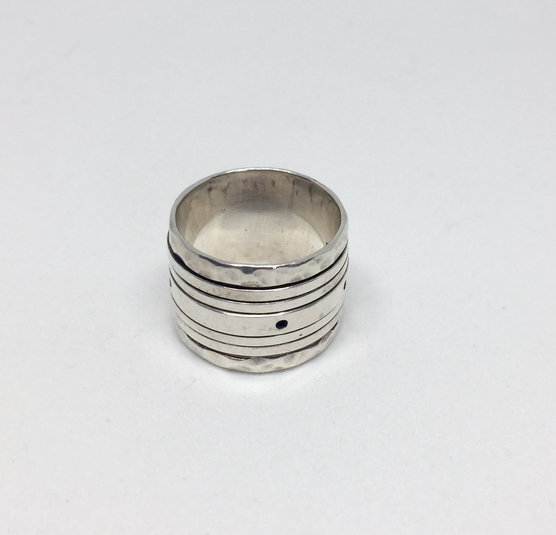 Silver Band Spinning Ring
