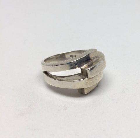 Silver Architectural Styled Ring