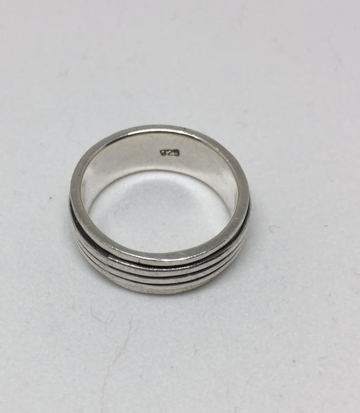 Spinning Band Silver Ring
