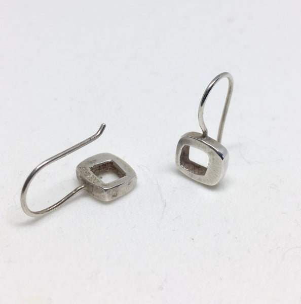 Modernist Silver LS Earrings