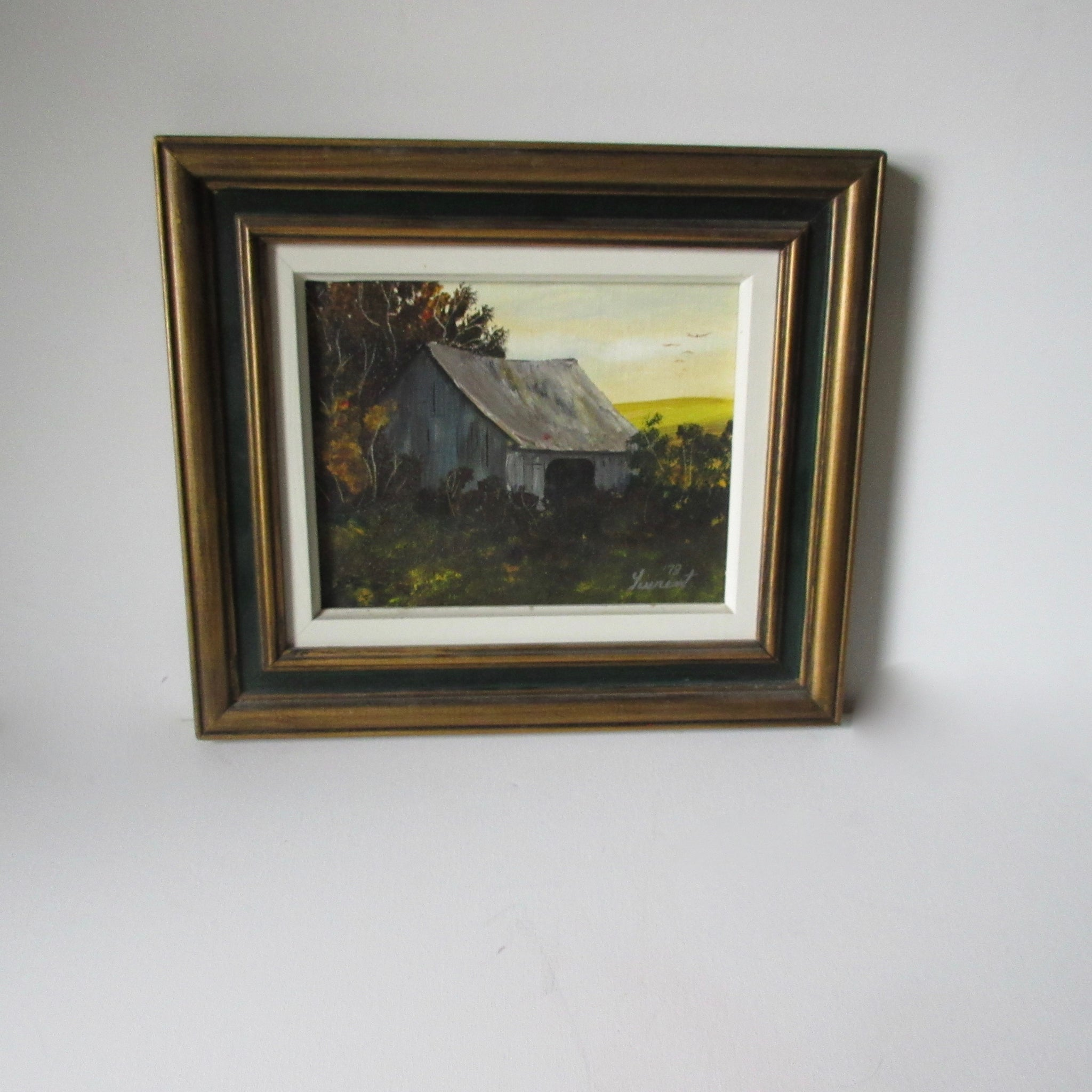 Barn Scene Eastern Townships Painting