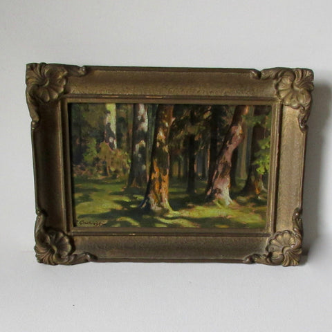Woodlands Oil Painting J. Grubinski