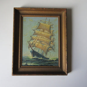 Ship Oil Painting W.A. Roscoe