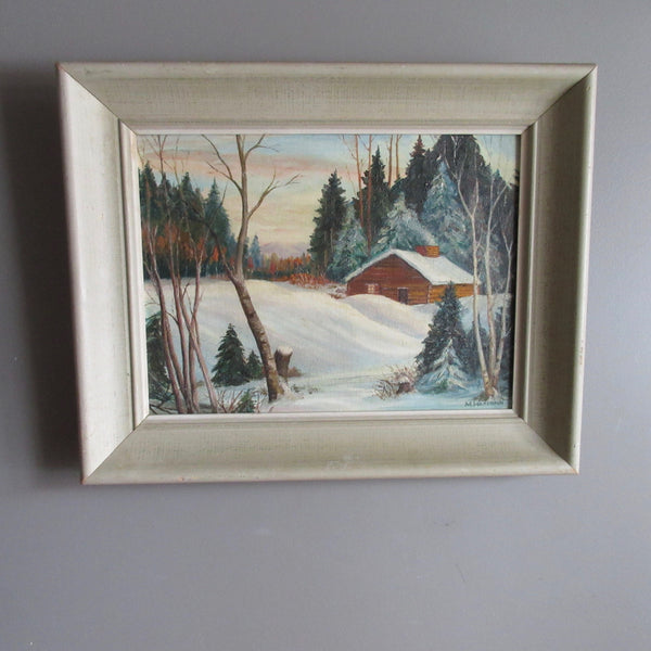 Winter Scene Northern Ontario Painting