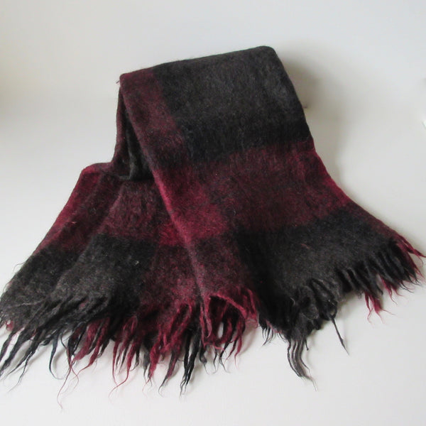 Vintage Over Dyed Mohair and Wool Throw