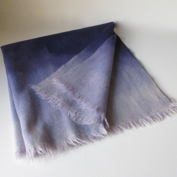 Vintage Dip Dyed Wool Throw Purple Middle