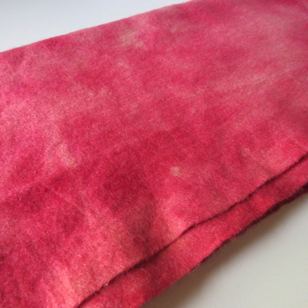 Over Dyed and Dip Dyed Vintage Wool Blanket Red