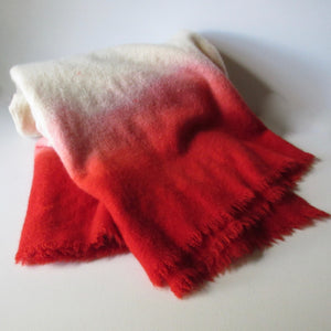 Dip Dyed Vintage Wool Blanket Red