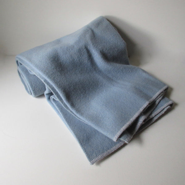 Vintage Wool Blanket - Powder blue
