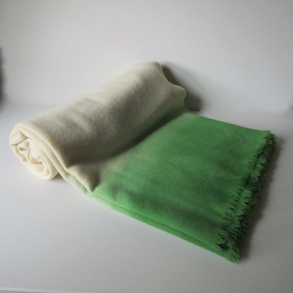 Dip Dyed Vintage Wool Blanket Kelly Green