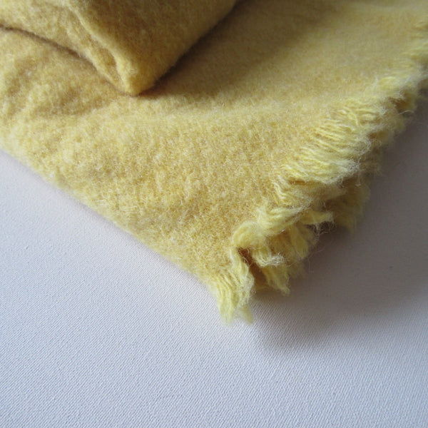 Vintage Wool Blanket Yellow