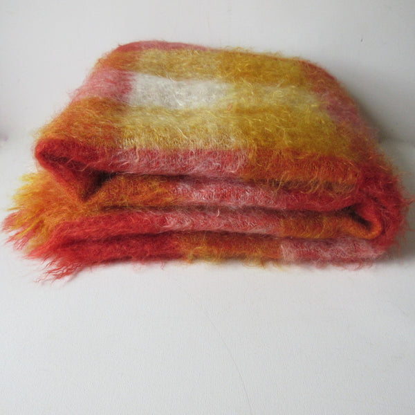 Vintage Mohair Blanket Throw