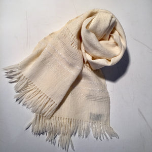Vintage Hand Woven Wool Scarf