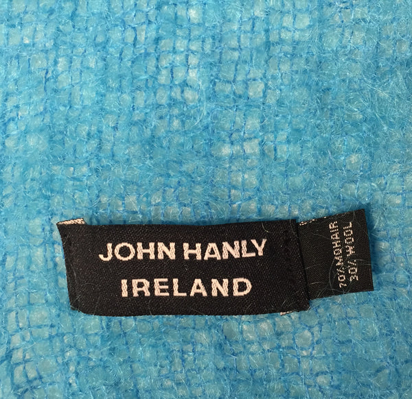 Mohair Wool Scarf John Hanly - Blue Turquoise