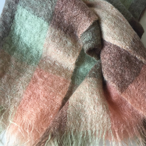 Mohair Throw by Glencree - Plaid