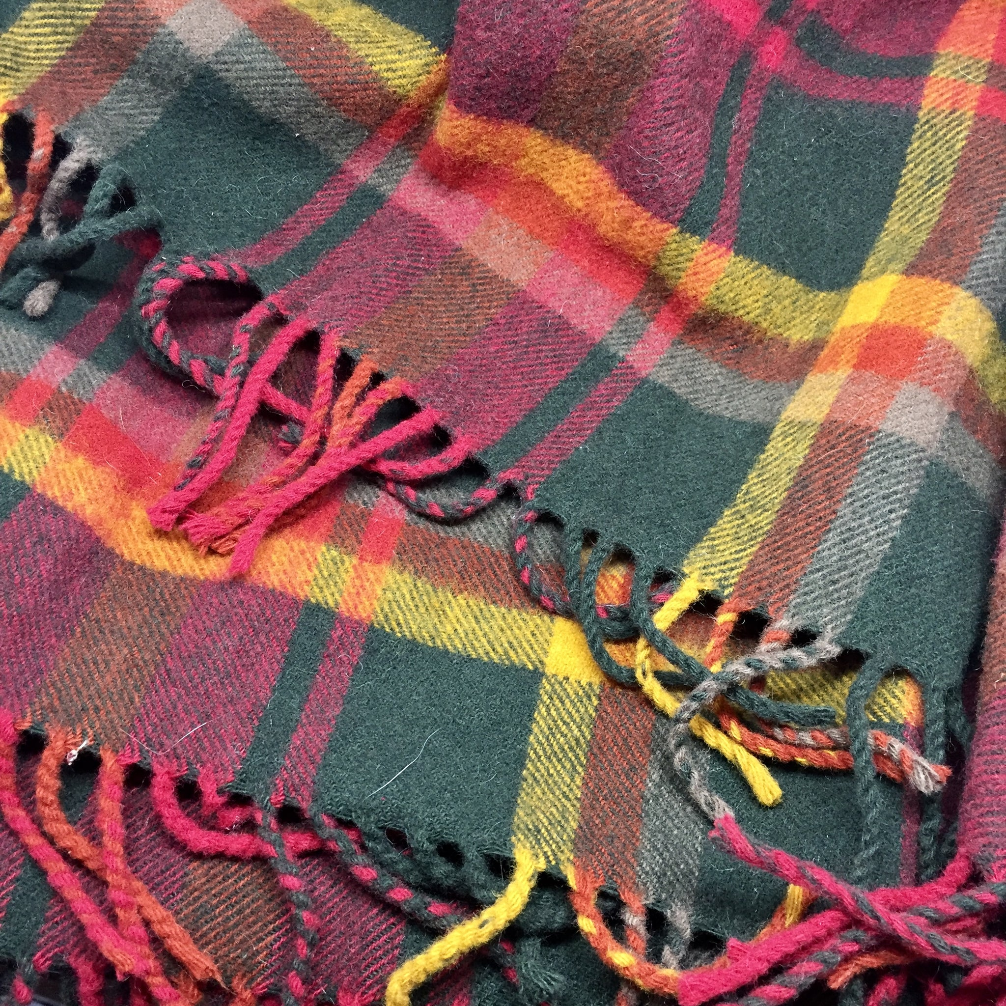 Fireside Lambswool Throw by Begg & Co - Plaid