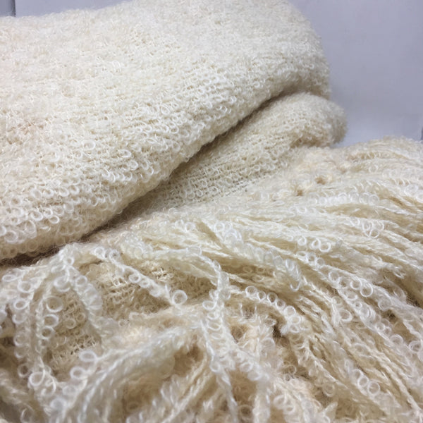 Vintage Boucle Throw by Ste. Madeleine