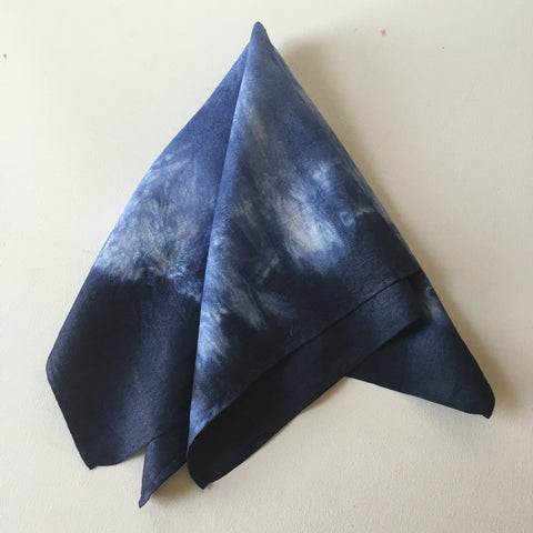 Vintage Damask Overdyed Napkins - Dark Blue