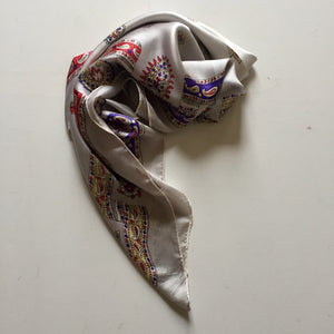 Silver Grey Silk Scarf