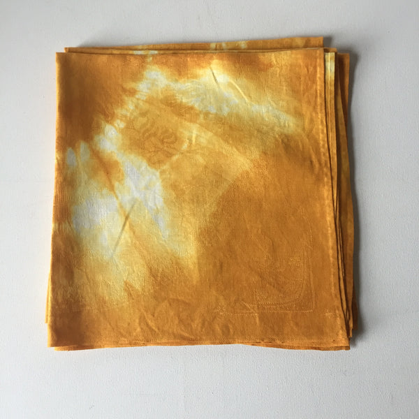Vintage Damask Overdyed Napkins - Orange Sun