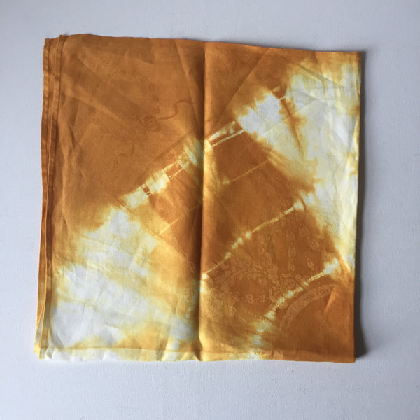 Vintage Damask Overdyed Napkins (2)- Orange Sun