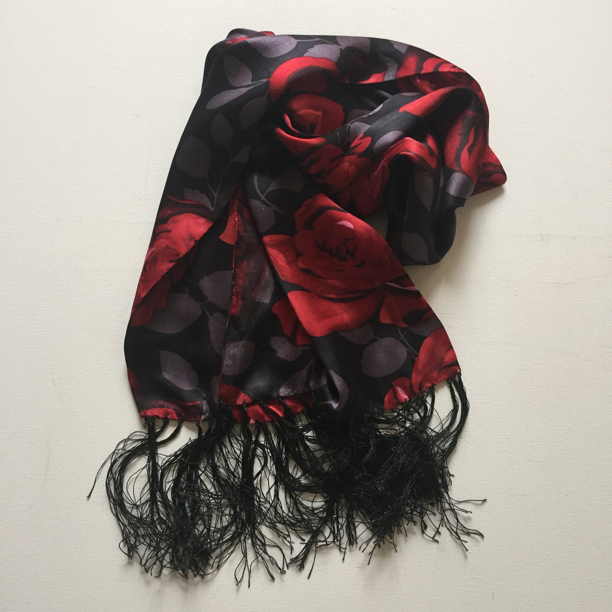 Evening Rose Silk Scarf