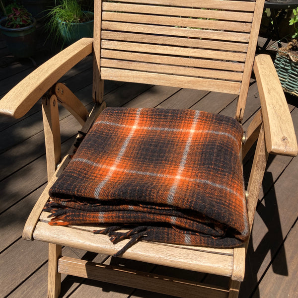 Vintage Wool Picnic Throw Brant Forde