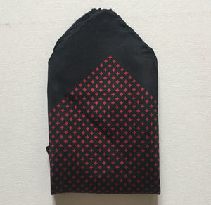 Pocket Square Silk Scarf Black Border