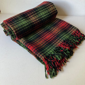 Vintage Wool Throw Brant Forde Green/Red