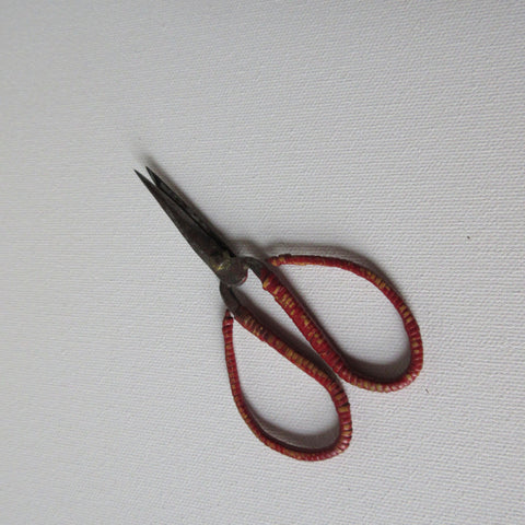 Scissors Chinese Hand Forged Steel Rattan Wrapped Handle
