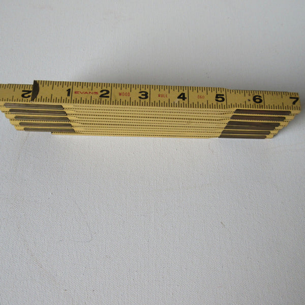 Evans Vintage Wood Folding Tape Measure