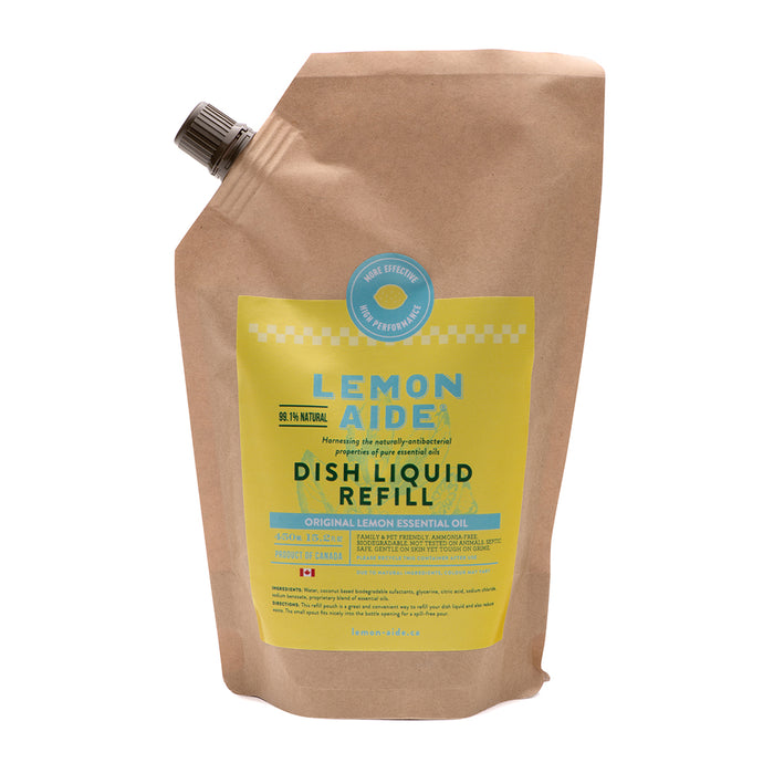 Lemon Aide - Lemon Dish Liquid Refill 450ml
