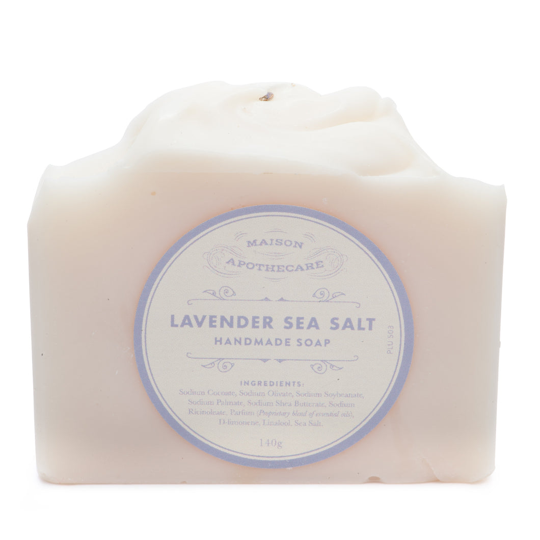 Handmade Soap Bar - Lavender & Sea Salt